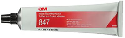 Brown 3M™ Nitrile High Performance Rubber And Gasket Adhesive 847
