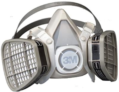 Large 3M™ Disposable P95 Half Mask Respirators 5000 Series