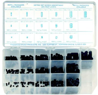 375 Piece Metric Set Screw Assortment