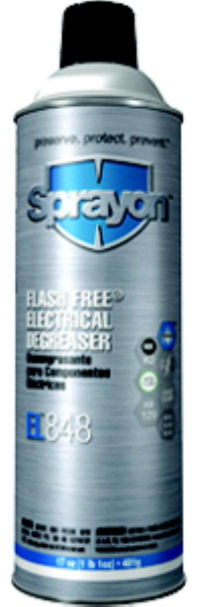 17oz Aerosol Net Wt. EL 848 Flash Free Electrical Degreaser