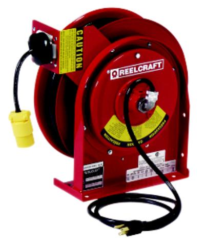 Series L4000 / L5000 12 Retractable Power and Light Cord Reels