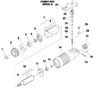 Fig #10 Vane - Rotor Set of 5 Power Unit Parts