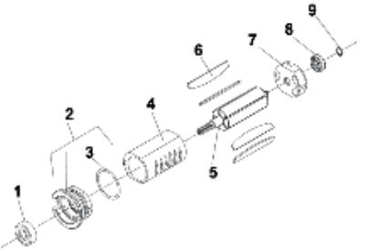 SD9APB Series Screwdriver Motor Service Parts