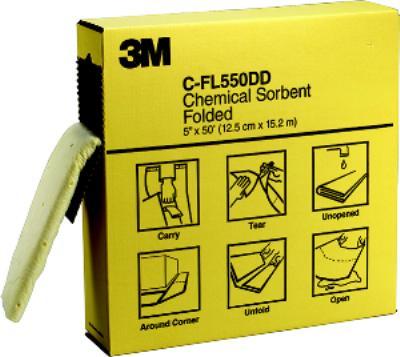 5IN x50' 3M™ Chemical Sorbent Folded C-FL550DD