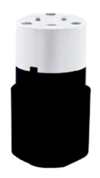Black & white nylon connector Straight Blade Connector