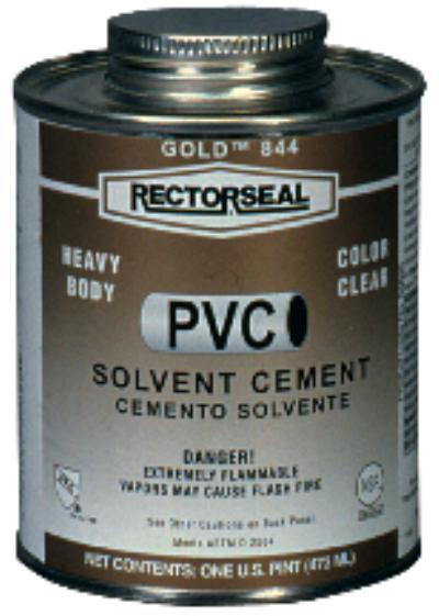 RectorSeal® Gold ™ 844  1/2 pt. PVC Cements