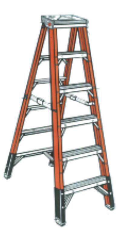 7400 Series 4' Fiberglass Step Ladders