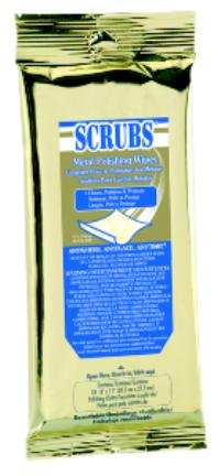 SCRUBS® 18 Towel Packet Metal Polishing Wipes