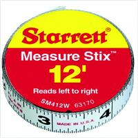 Measure Stix English - right to left Steel Measuring Tapes
