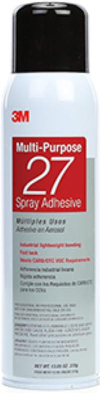 13.05oz Aerosol Net Wt. 3M™ Multi-Purpose 27 Spray Adhesive
