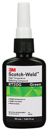 Green 3M™ Scotch-Weld™ High Temperature Retaining Compound RT20
