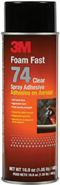 Orange 3M™ Foam Fast 74 Spray Adhesive