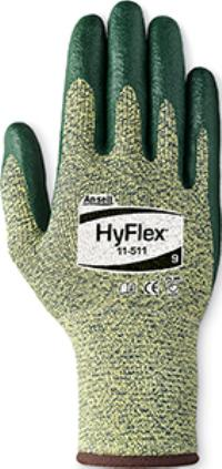 HyFlex® 11-511 Large/9 Cut Resistant Nitrile Foam Coated Gloves