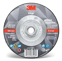 9IN × 1/4IN ×5/8-11 3M™ Silver Depressed Center Grinding Wheels