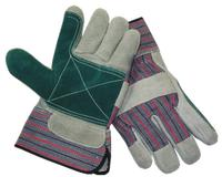 Large/9 Cowhide Leather Double Palm Work Gloves