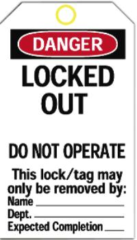 Heavy Duty Polyester Lockout Tags