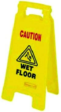 Yellow Safety Floor Signs