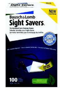 SightSavers 100 Tissues Safety Glasses Lens Cleaning Tissues