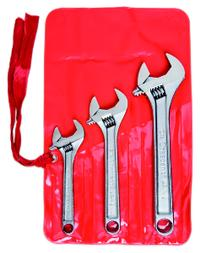 3 Piece Adjustable Wrench Set