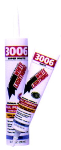 White 3006 Adhesive Caulks