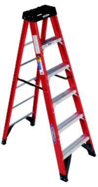 6300 Series 4' Fiberglass Extra Heavy Duty Step Ladders