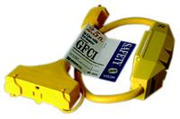 Tri-Source 3-Way Power-Block 2.5' In-Line GFCI Cord
