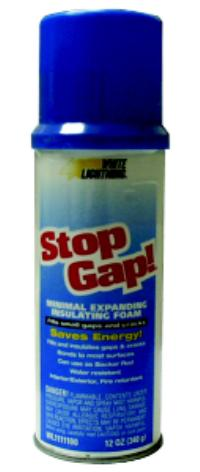 Stop Gap! 8oz Aerosol Net Wt. Expanding Insulating Foams