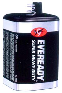 Super Heavy Duty 6V Spring Top Lantern Battery