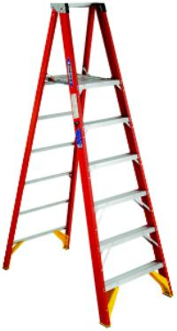 P6200 Series 4' Fiberglass Platform Ladders
