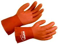 Small/7 Red Coat Kevlar, Premium PVC Gloves