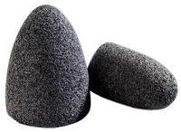 1 1/2IN x3IN x 3/8-24 Aluminum Abrasive Cones
