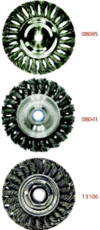 6IN x 5/8-11 Knot Wire Wheel Brushes