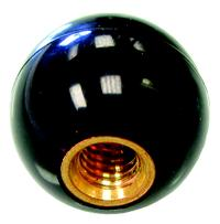 1/4-20 Black Phenolic Ball Knobs