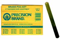 Poc-Kit 20 Sizes Brass Thickness Gage Assortment