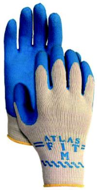 Atlas Fit Large/9 General Purpose Natural Rubber Coated Gloves