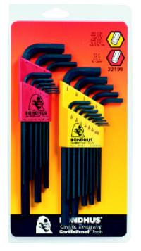 22 Piece Ball End L-Wrench Double Pack Set