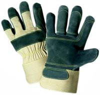 Small/7 Premium Cowhide Leather Double Palm Gloves