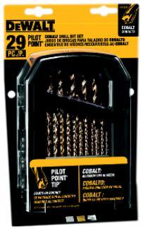 29 Piece Cobalt Pilot Point Drill Bit Sets