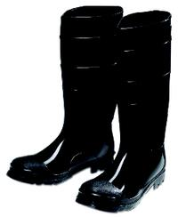 10 Black PVC Steel Toe Rubber Boots