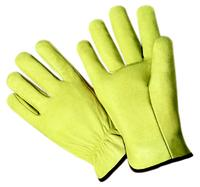 Medium/8 Select Grain Pigskin Leather Driver Gloves