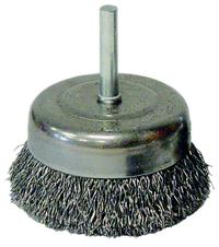 Vortec Pro 3IN x 1/4IN  Stem Crimped Wire Cup Brushes