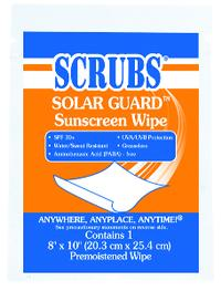 8IN  x 10IN  Sunscreen Wipes