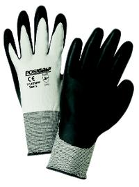 XSmall/6 Gray Nitrile Sponge Foam Coated Nylon Gloves