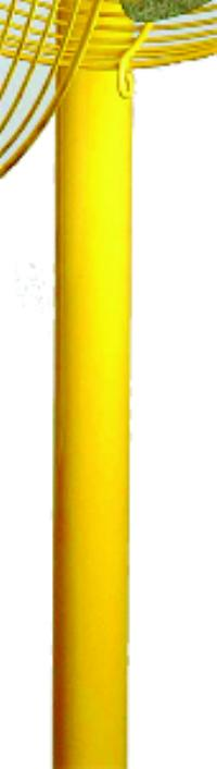 30IN  Pedestal For Safety Yellow Fans