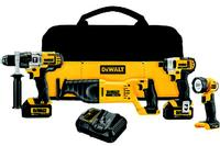 20V MAX Lithium-Ion Cordless 4 Tool Combo Kit