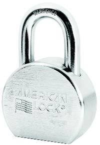 American Lock 1 1/16IN  Solid Steel Chrome Plated Padlock