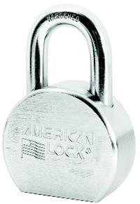 American Lock 1 1/16IN  Solid Steel Chrome Plated Padlock