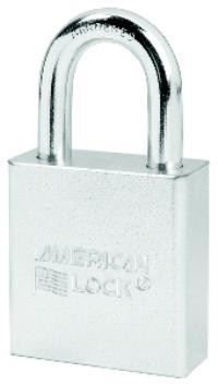 American Lock 1 1/8IN  (28mm) Solid Steel Chrome Plated Padlock