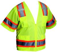 Large ANSI Type R Class 3 Two-Tone Surveyor Eleven Pocket Vest