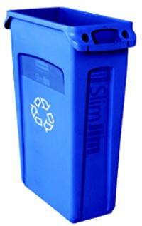 Slim Jim Blue Recycling Container